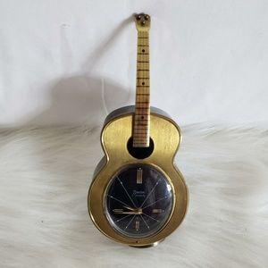 SWIZA Swiss Guitar 8 day Alarm Clock EUC VTG